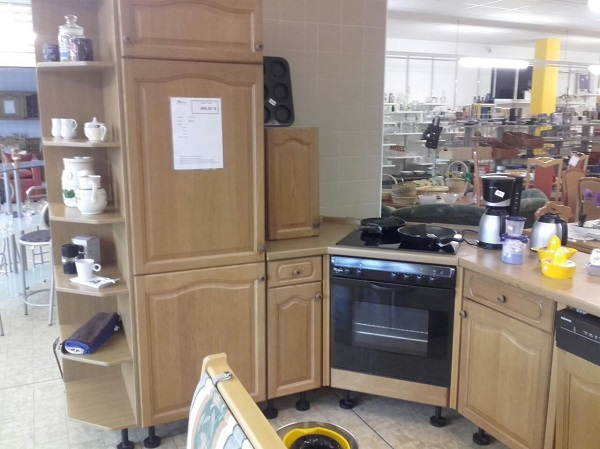 Küche Eiche Rustikal inkl. E-Geräte - DIAShop Vogtland
